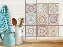 fliesenfolie küche 10x10 cm afrikanische mosaikfliesen 9