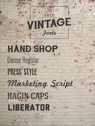 Best 25 Vintage Fonts Ideas On Pinterest Free Typography