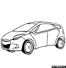 Hyundai HRD5 Concept Car Coloring Page