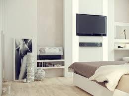 White Cream Bedroom Decor Tv Olpos Design