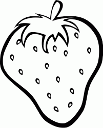 Strawberry Coloring Sheet Kids Pages