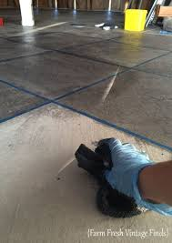diy stain your concrete to look like tile concrete floor
