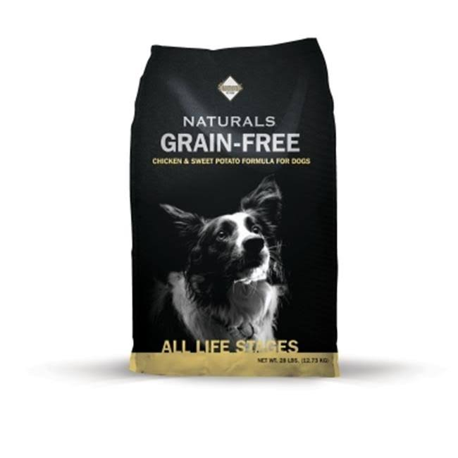Diamond Naturals Grain Free Dry Dog Food - Chicken and Sweet Potato, 28 lbs