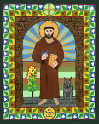 st francis of assisi icon painting by david raber