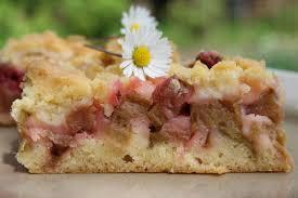 rhabarberkuchen mit streusel saftig süß und erfrischend
