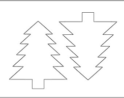 6 Inch Pine Tree Template Printable Cutout Christmas Coloring Page Holiday Kids Crafts Toddler Art Projects