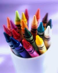 Art Supplies Crayons Brushes Pallet
