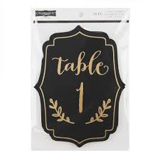 Michaels Canada Art Desk by Celebrate It Occasions Table Number Plaques Black U0026 Gold