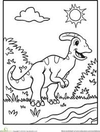 Dinosaurs Coloring Pages Printables Page 2