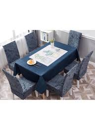 Shop Deals For Less 7-Piece Printed Table Cloth With Dining Chair Cover  Blue/White/Black Online In Dubai, Abu Dhabi And All UAE Us 701 45 Offnew Spandex Stretch Ding Chair Cover Machine Washable Restaurant Wedding Banquet Folding Hotel Zebra Stripped Chairs Covergin Yisun Coverssolid Pu Leather Waterproof And Oilproof Protector Slipcover Black 4 Pack 100 Room Navy Blue And White Unique Bargains Removable Short Slipcovers Nanpiperhome Elegant Elastic Universal Home Decor Searching Perfect Check Search Faux By Surefit Classic Cabana Stripe Long Covers Set Of 2 Ltplaza Modern Seat 4pcsset Damask Operi