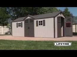 lifetime 20x8 storage shed 60127 youtube