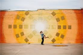 Deep Ellum Wall Murals by David Mikayla A Colorful Romantic Ethereal Engagement