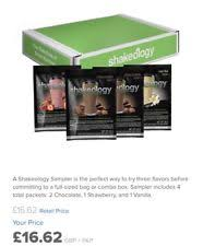 SHAKEOLOGY Sampler Protein Meal Replacement Shakes NEW SEALED GBP1662