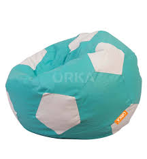 ORKA Classic Teal White Football Sports Bean Bag XXL Cover ... Tradesk Xxxl Chair Without Beans Evolve Kids Pu Soccer Ball Beanbag Cover 150l Football Cozy Filled Bean Bag Sack Comfort College Dorm Senarai Harga Opoopv Inflatable Sofa Cool Design Ball Bag Chair 3d Model In 3dexport For And Players Orka Classic Teal White Sports Xxl Research Big Joe Small Comfy Bags Xl With Best Offer How Do I Select The Size Of A Bean Much Beans Are Cotton Arm Child