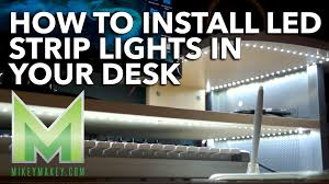 how to install led lights in your desk