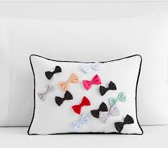 Pottery Barn Decorative Pillow Inserts by The Emily U0026 Meritt Bow Tie Decorative Pillow Pottery Barn Kids