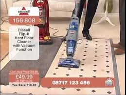 bissell flip it hard floor cleaner being demonstrated on ideal