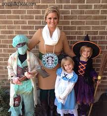 Starbucks Costume Closeup Starbuck Couple Group Photo Halloween