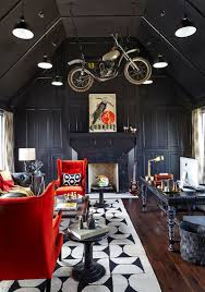 Black Red And Gray Living Room Ideas by 30 Black And White Home Offices That Leave You Spellbound
