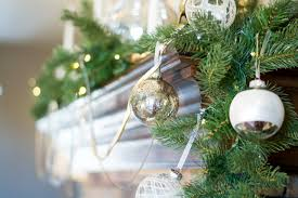 Christmas Decorating Ideas For A Rustic Glam Mantel Silver And White Ornaments