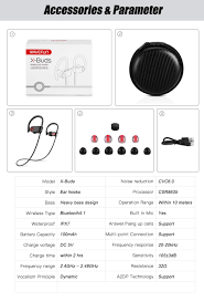 wavefun bluetooth headphones ipx7 waterproof wireless headphone