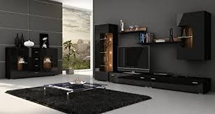 luxus wohnzimmer möbel set fronten in hochglanz display