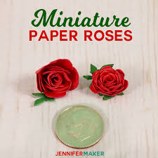 Make Miniature Paper Roses For Cute Crafts