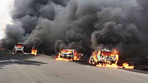 Many Feared Dead In Lagos Petrol Tanker Fire — Nigeria — The ... Anthem Insulation Truck Fire Tanker Truck Driver Dies After Explosion Causes 3alarm Fire Near Many Feared Dead In Lagos Petrol Tanker Nigeria The Three Injured Gnville Daily Gazette Incredible Moment Gas Accident Turns Highway Into A Raging Gas Explodes On Freeway No Injuries Wtop Invesgation Continues Speedway Spill That Caused Italian 2 Scores Hurt Pueblo Massive Oil Downs Power Lines Long Island 3 Killed Dozens Bologna Cnn Video Explosion At Station In Ghanas Capital Kills Dozens Huffpost