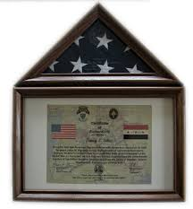 Walnut Flag Display Case For A 3 X 5