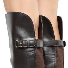 Bota Over The Knee Via Uno Salto Baixo Feminina Preto
