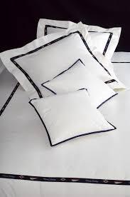 collection côte ouest parure de lit blanche avec galon exclusif