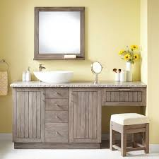 60 Inch Bathroom Vanity Single Sink Canada by Single Sink Bathroom Vanity With Makeup Area Home Vanity Decoration