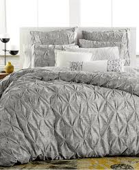 Macys Bedding Collections by Bar Iii Diamond Pleat Full Queen Duvet Cover Bedding Collections