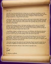 Open Letter From God