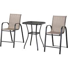 Courtyard Creations Patio Table by Courtyard Creations Plymouth 3 Pc High Dining Set All In 1 Box