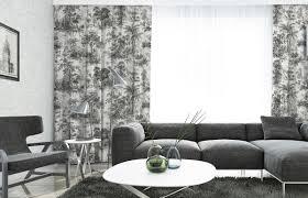 casa padrino luxus vorhang set dschungel weiß schwarz 250 x h 290 cm bedruckte leinen samt vorhänge ösenvorhänge schiebevorhänge
