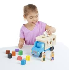 100 Melissa And Doug Trucks ShapeSorting Wooden Dump Truck Toy With 9 Colorful