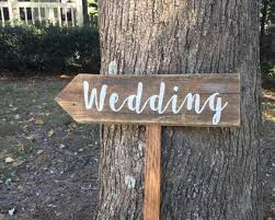 Wedding Signs Wood Arrow Sign Wooden