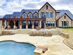 Rustic French Country Style Mansion Ranch Home In Montserrat Outside Fort Worth Texas