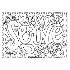 Serve Downloadable Coloring Page