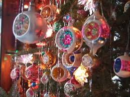 Christmas Light Reflectors And Glass Balls From The 1950s
