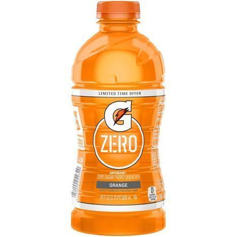Gatorade Zero Sugar Orange Thirst Quencher 28 Fluid Ounce Plastic Bottle