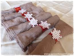 serviette de noel en papier diy des ronds de serviettes pour noël la cour des petits