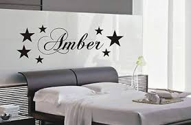 Personalised Star Wall Art Sticker Name Style B Kids Bedroom Stickers