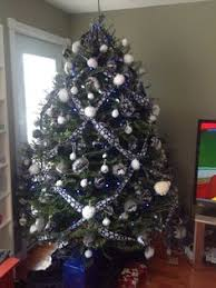 My Pinterest Inspired Dallas Cowboys Colors Christmas Tree For 2013 It Even Impressed Mom