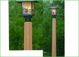 Wooden Outdoor Lights Lighting Outdoor Lights For Fence Posts