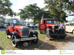100 1929 Chevy Truck Old Red And Ford Parked Side By Side Editorial Stock Image