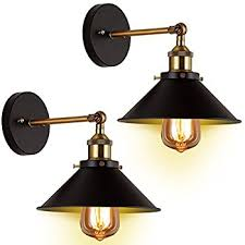 wall sconces light 2 pack jackyled e26 e27 base black wall