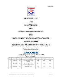 Dresser Rand Group Inc Ahmedabad by Hpcl Vendor List