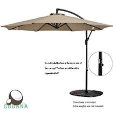 Sunbrella Patio Umbrellas Amazon by Amazon Com Cobana 10 Ft Patio Umbrella Offset Hanging Umbrella
